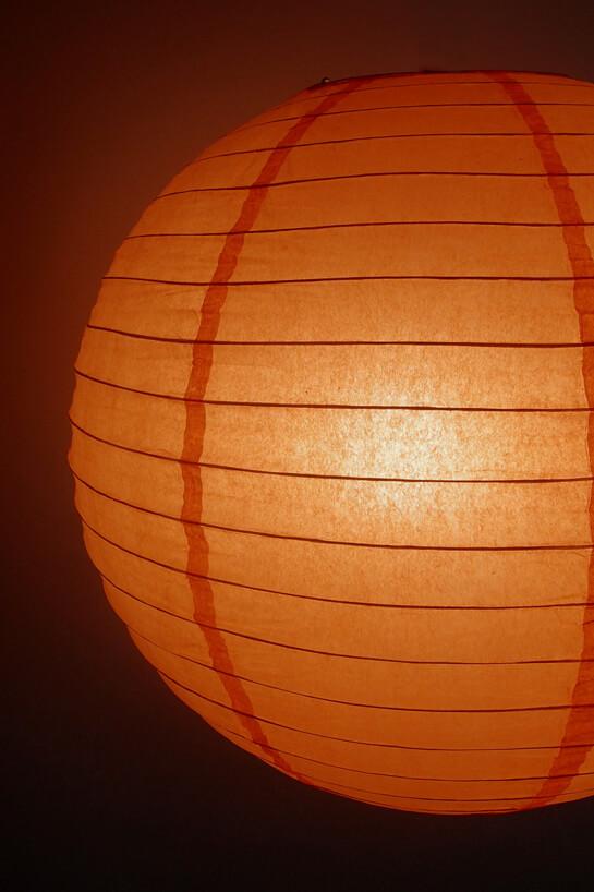24 Quot Peach Light Orange Paper Lanterns