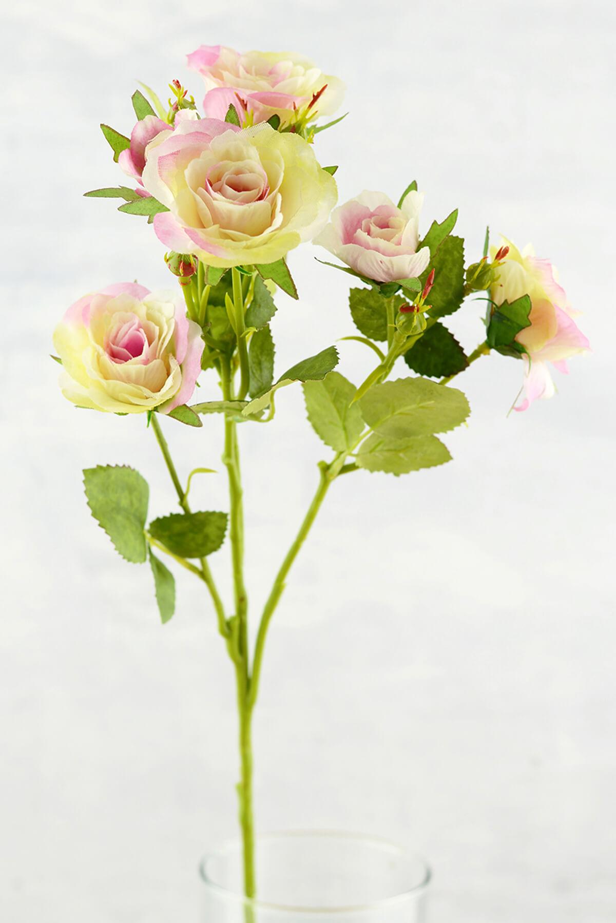 Long Stem Silk Roses Cream Amp Pink