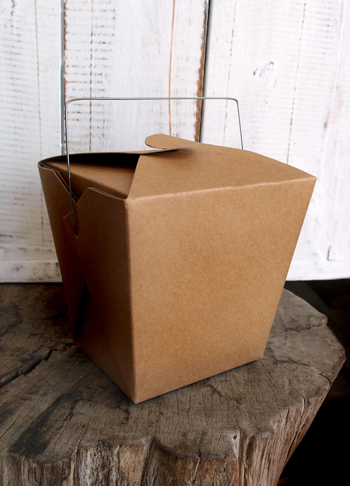 12 Brown Kraft Paper 4 Take Out Boxes