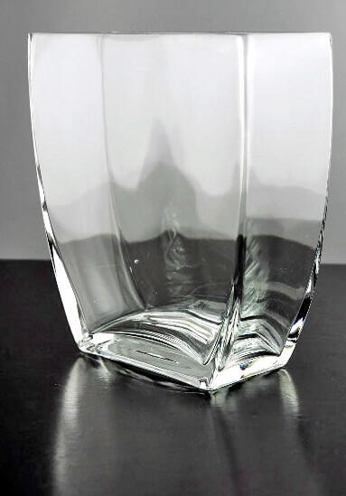 Glass Tapered Square Vase 725in