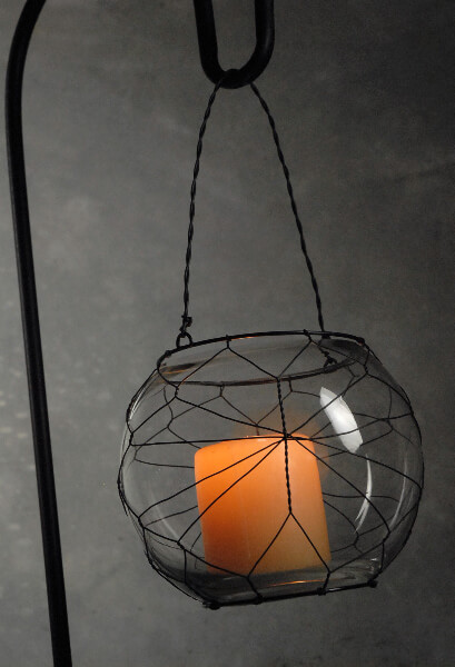 Wire Hanging Candle Holder