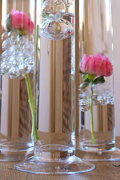 Cityscape 4 X 395 Footed Clear Glass Cylinder Vases