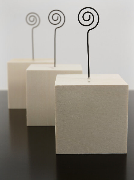 6 Wood Block 3x3 Place Card Holders