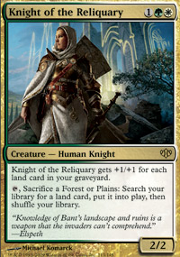 MTG Card: Knight of the Reliquary