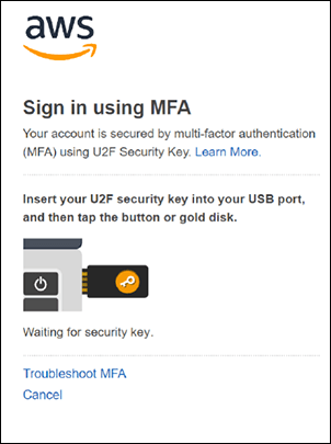 Figure 8: Completing sign-in with MFA