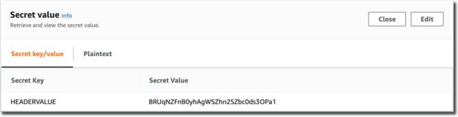 Figure 10: Secrets Manager retrieve value