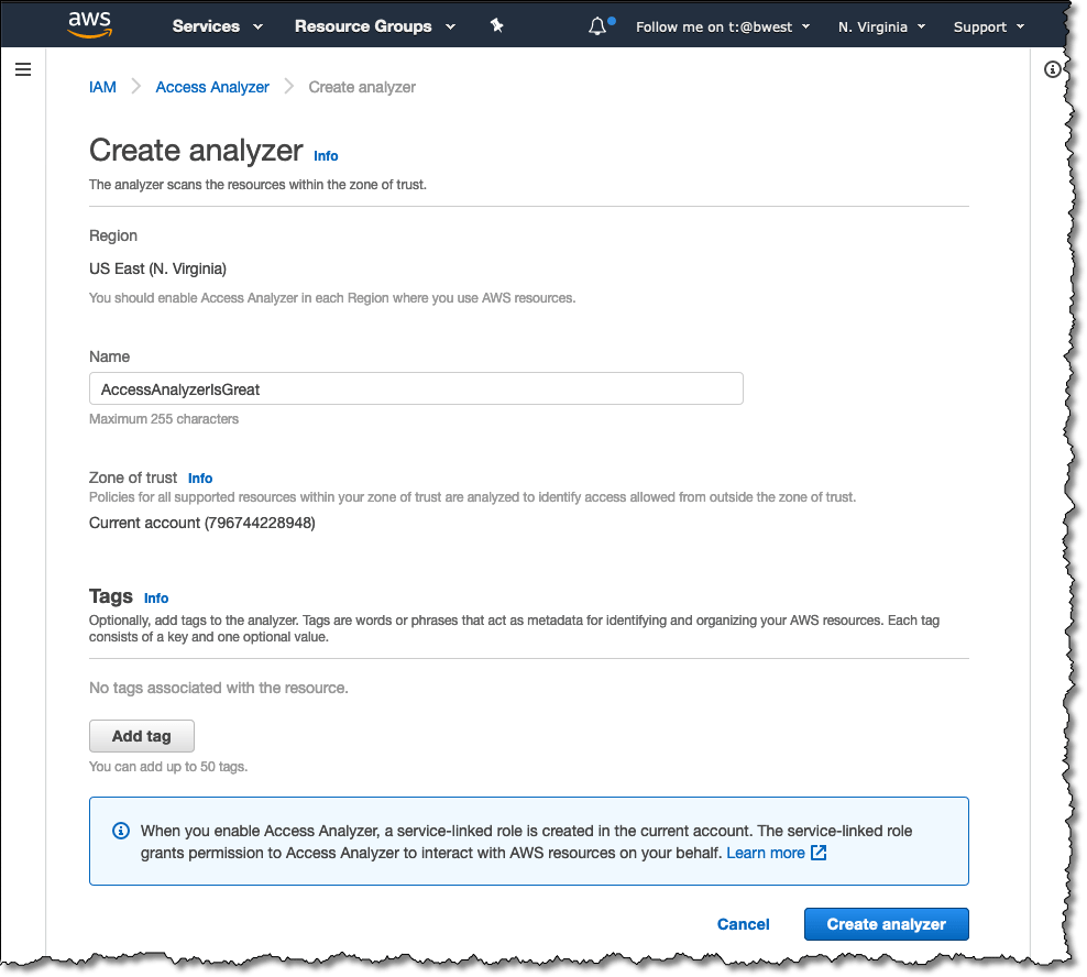 Creating an Access Analyzer