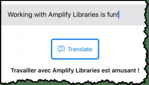 Amplify Mobile demo translation