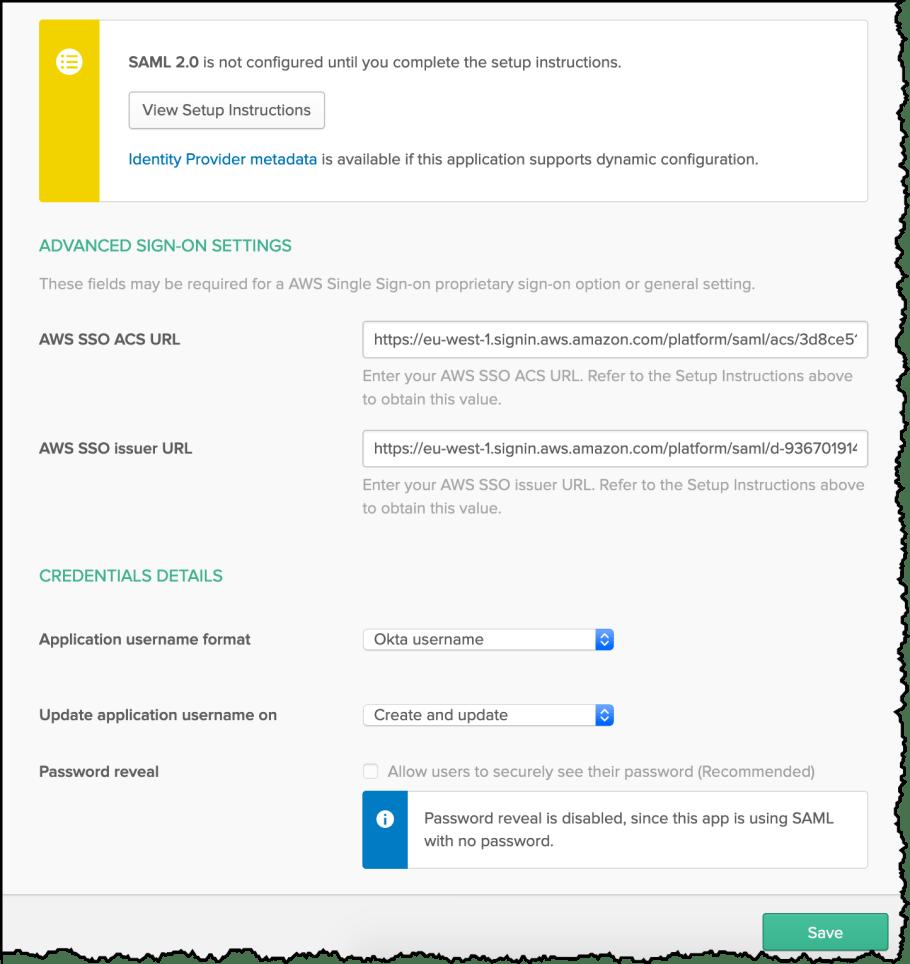OKTA ACS URLs