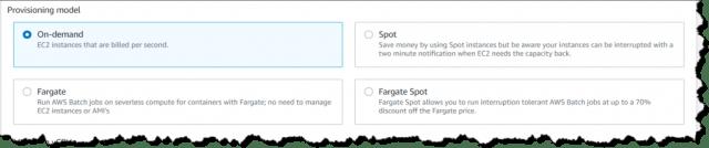 Selecting Fargate
