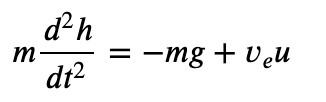 a momentum balance yields the following model: