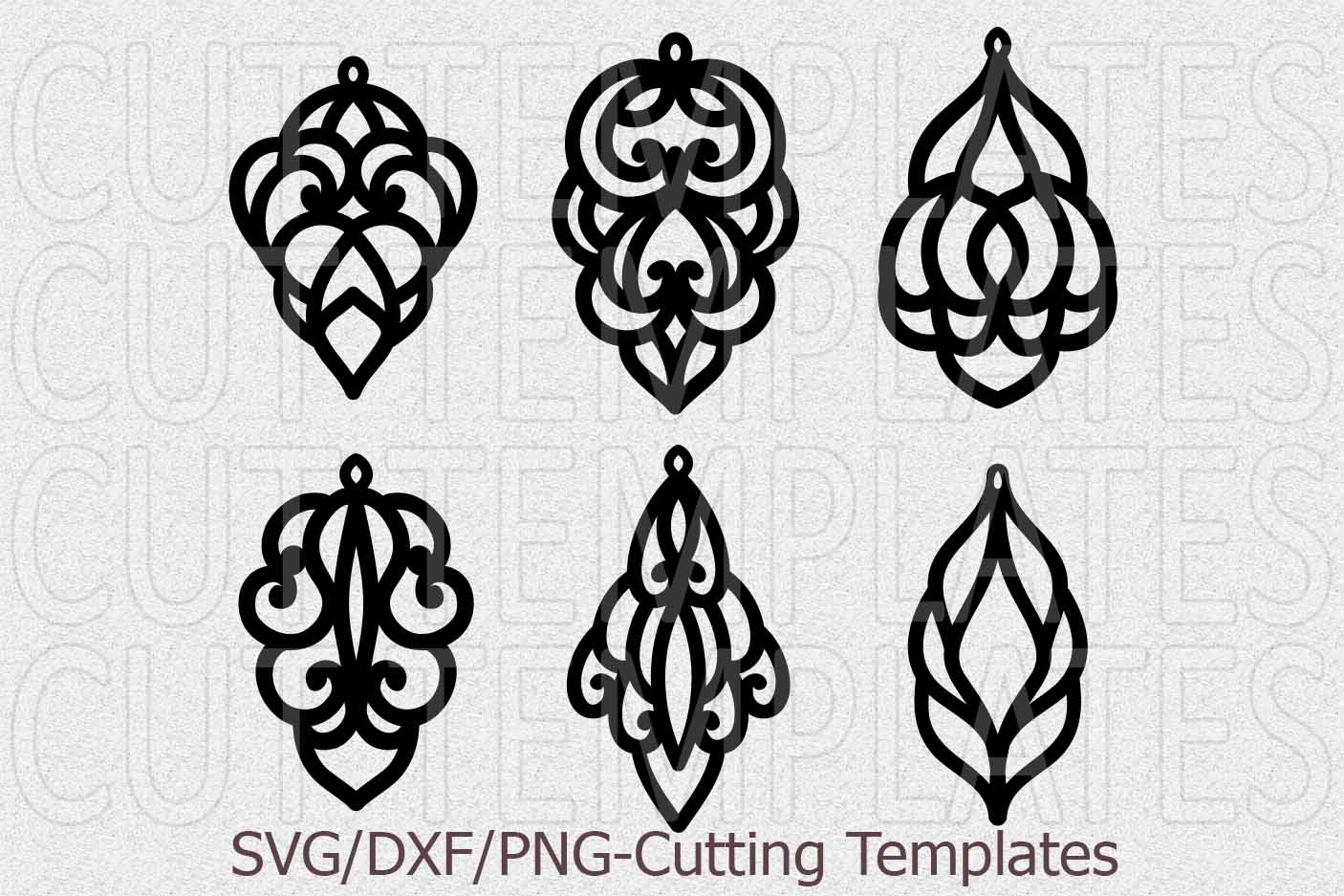 Leather Earring Template Svg Oriental
