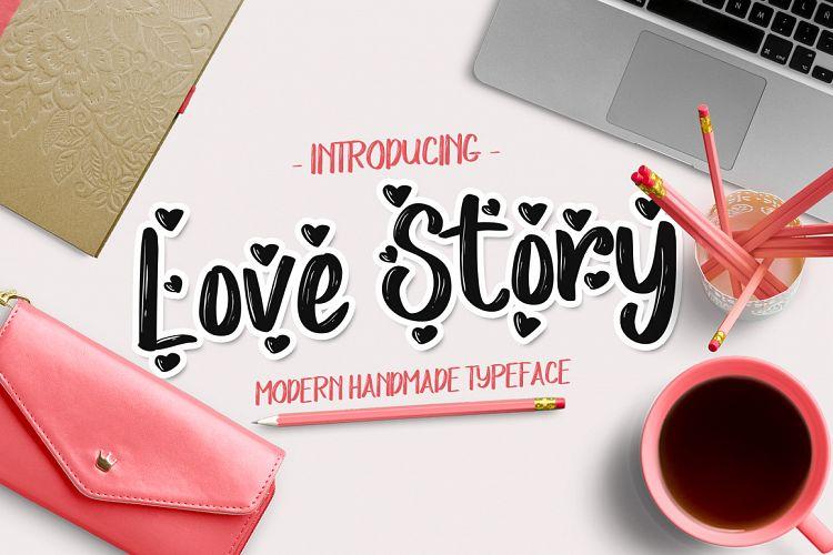 Free Love Story Font (30% Off) Fontscripts