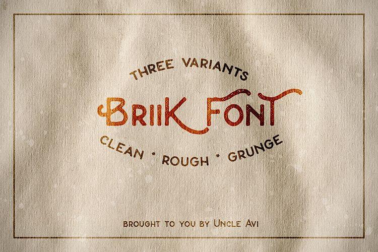 Free Briik - Hipster Fonts Fontscripts