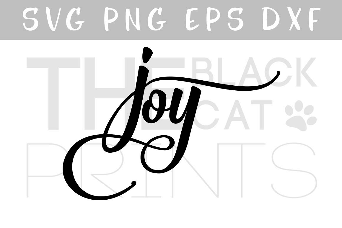 Joy Svg Eps Dxf Calligraphy Svg Ch