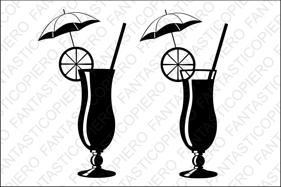 Cocktail Svg Files For Silhouette Cameo
