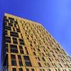 MassArt Residence Hall projetado como pintura de skyline de Boston com Alucobond Plus personalizado painéis de acm