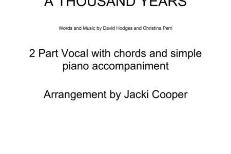 Contemporary Thousand Years Chords Piano Gallery Beginner Guitar