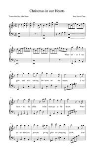 christmas in our hearts piano sheet christmaswalls co