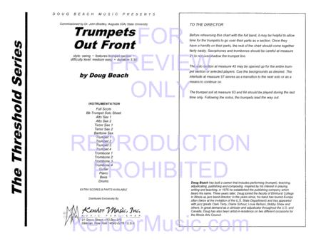 Trumpets Out Front by Doug Beach