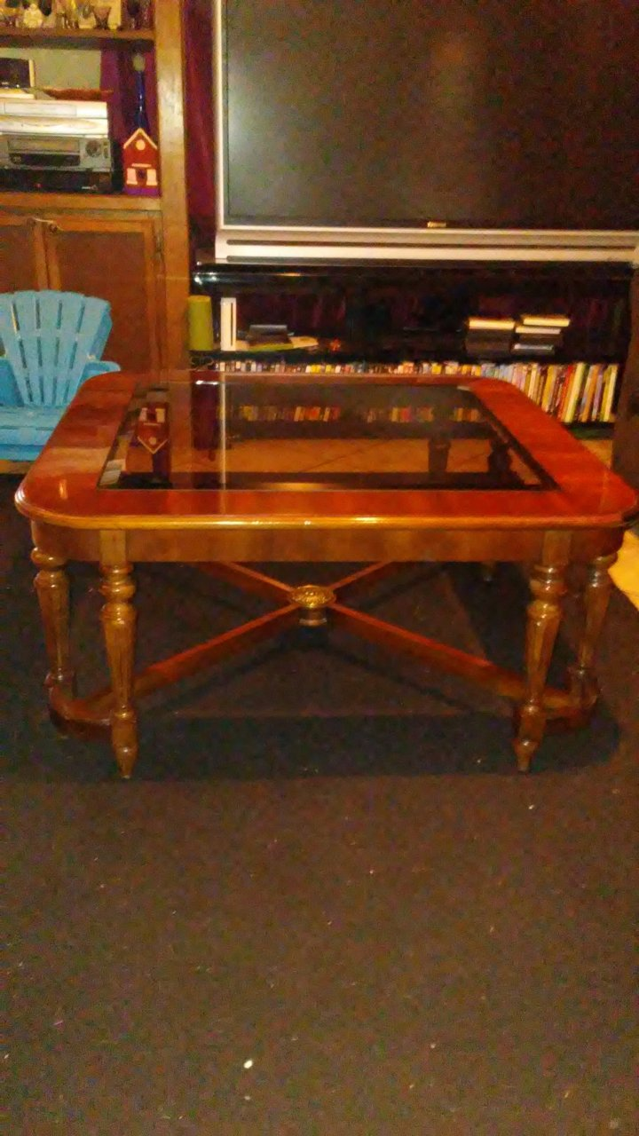 Gordons Fine Furniture Glass Coffee Table My Antique
