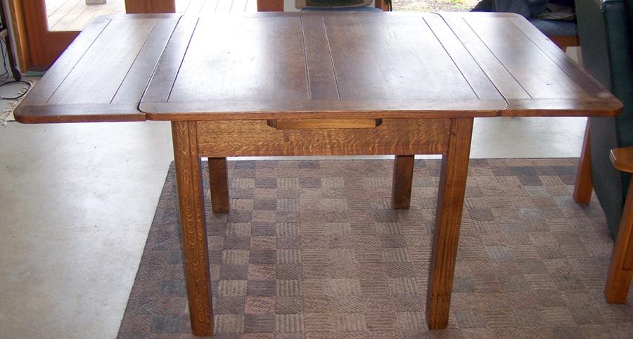 Oak Draw Leaf Pub Table My Antique Furniture Collection