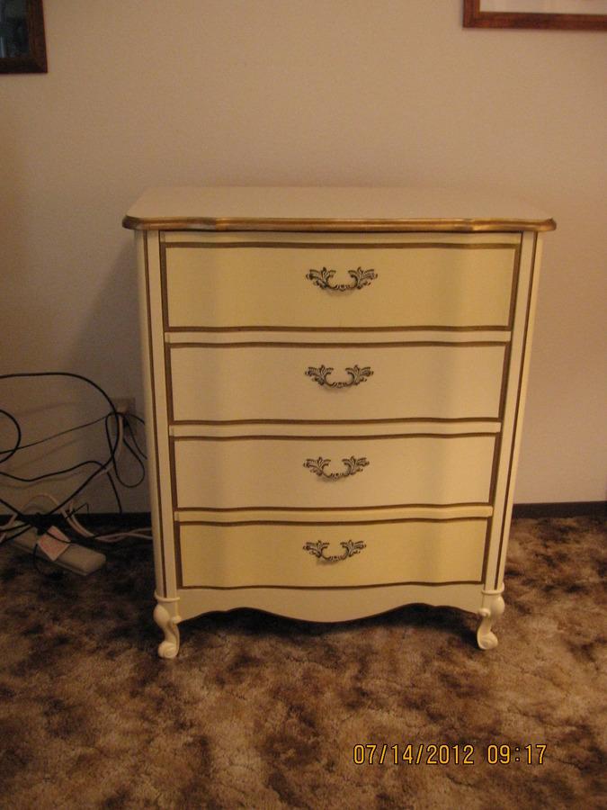 White Dresser And Chest