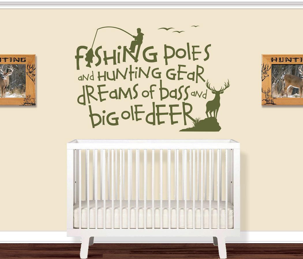 Childrens Room Wall Decals Nursery Hunting Fishing Deer