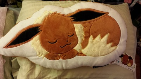 Eevee Pokemon Center Die Cut Sleeping Pillow Cushion MWT