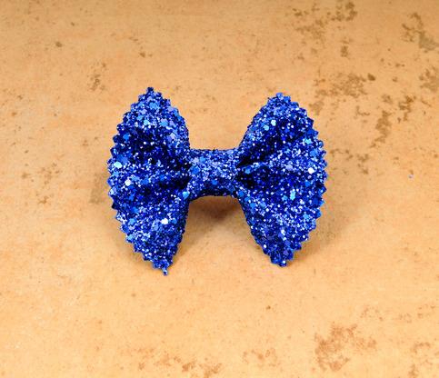 Rana Blue Glitter Bow