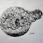 Living In A Terrarium Original Artwork Unframed Sold By Jinberry On Storenvy