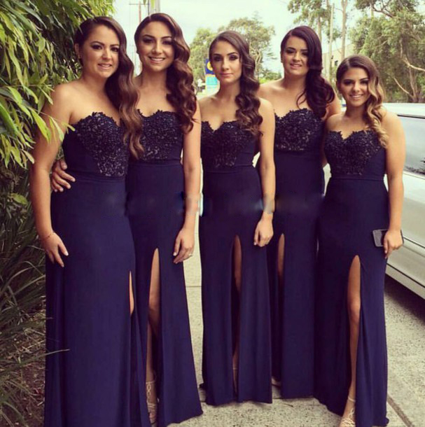 Navy Blue Dress Wedding