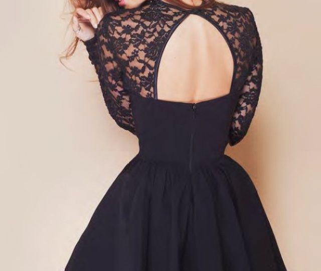Customized New Style Black Lace Homecoming Dress Sexy Backless Cocktail Dresses Short Zipper Prom