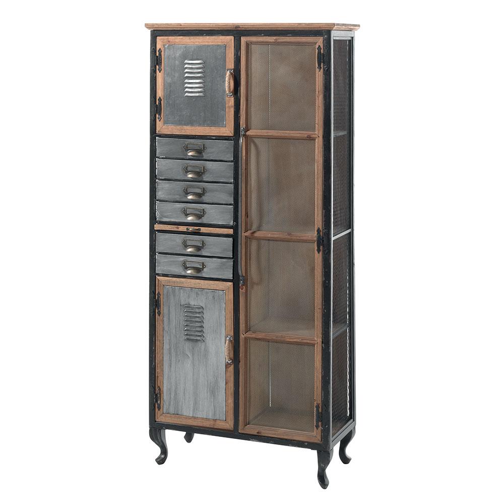 armoire industrielle metal bois lamphun