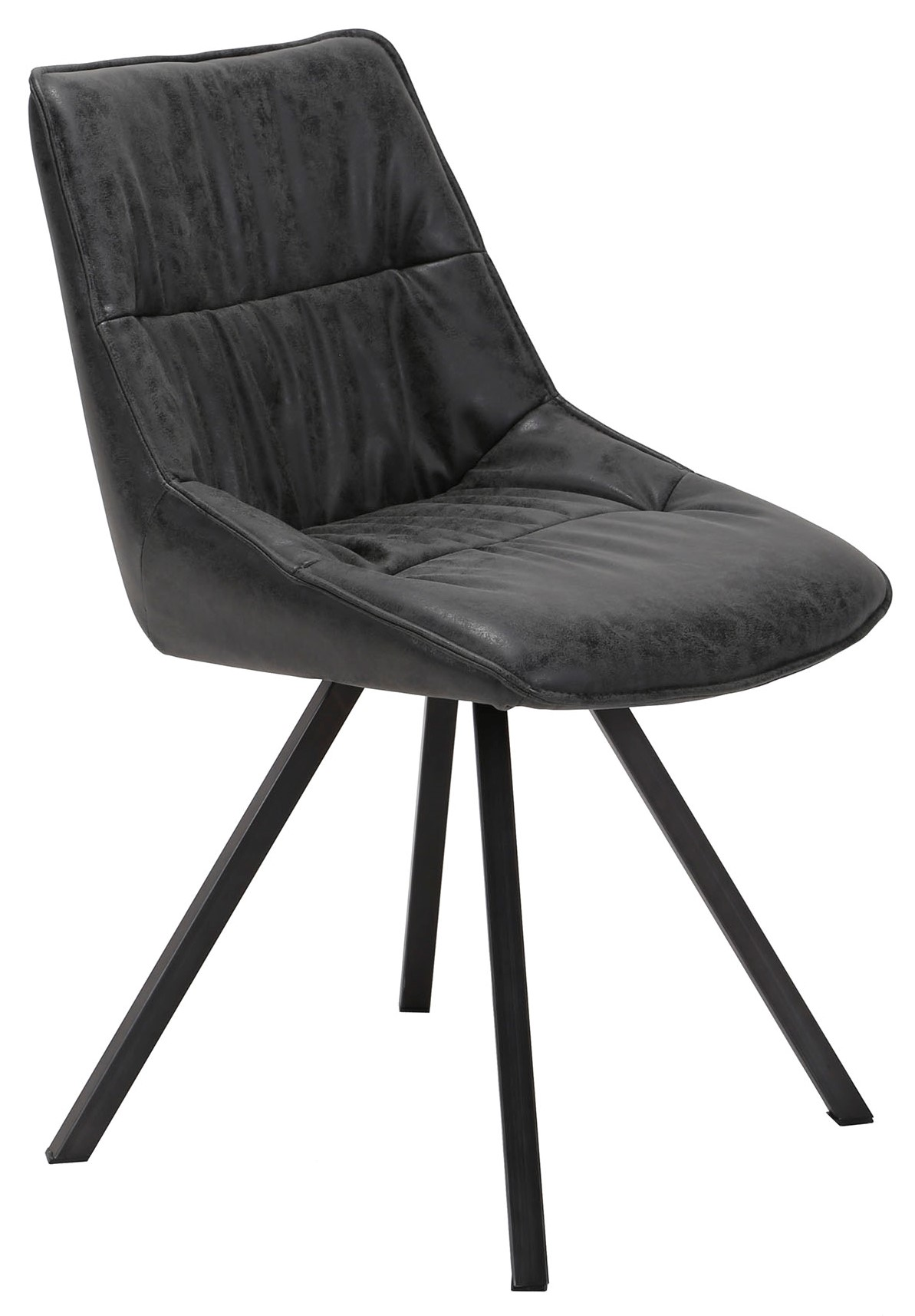 chaise scandinave gris fonce tribeca