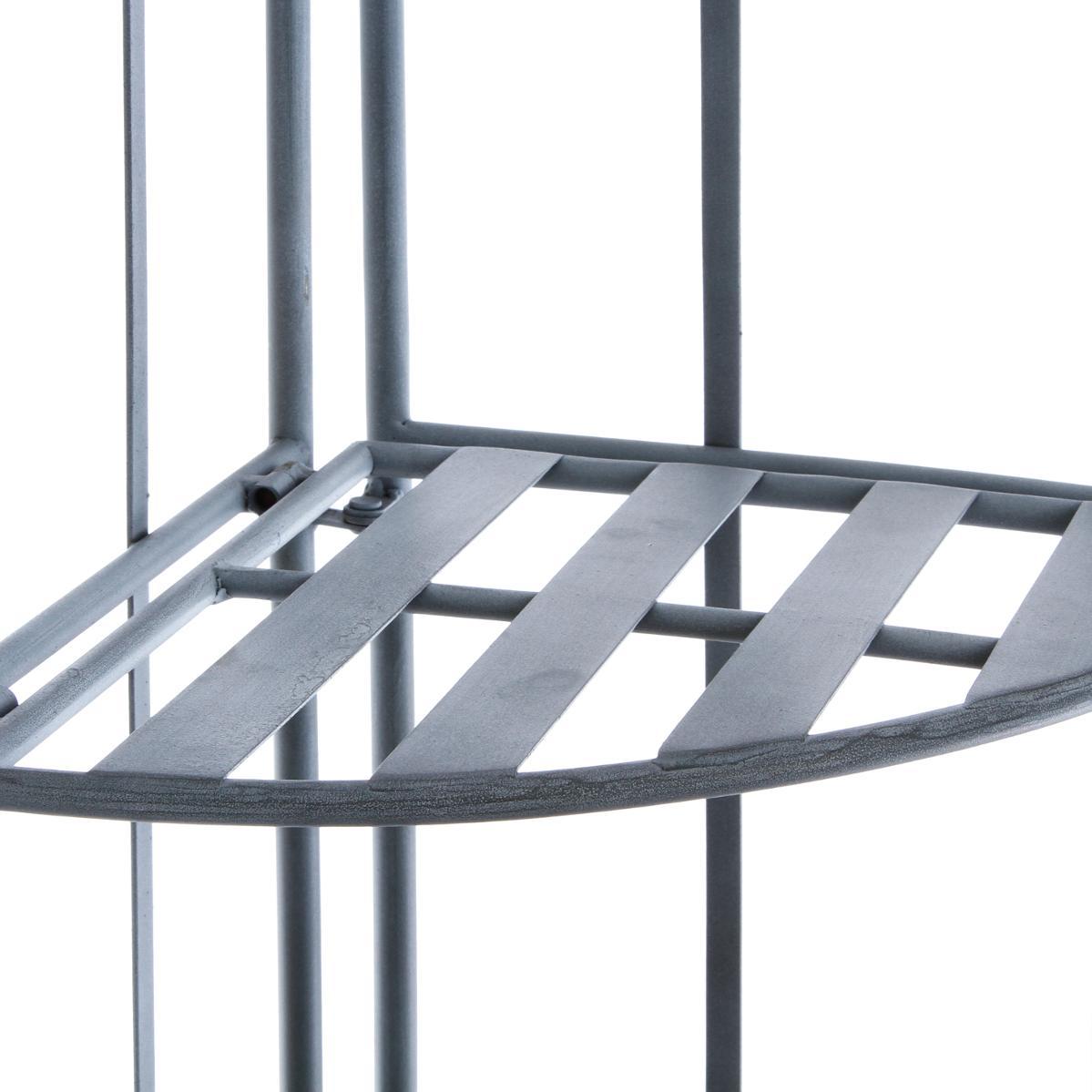 etagere d angle salon metal gris 4 niveaux