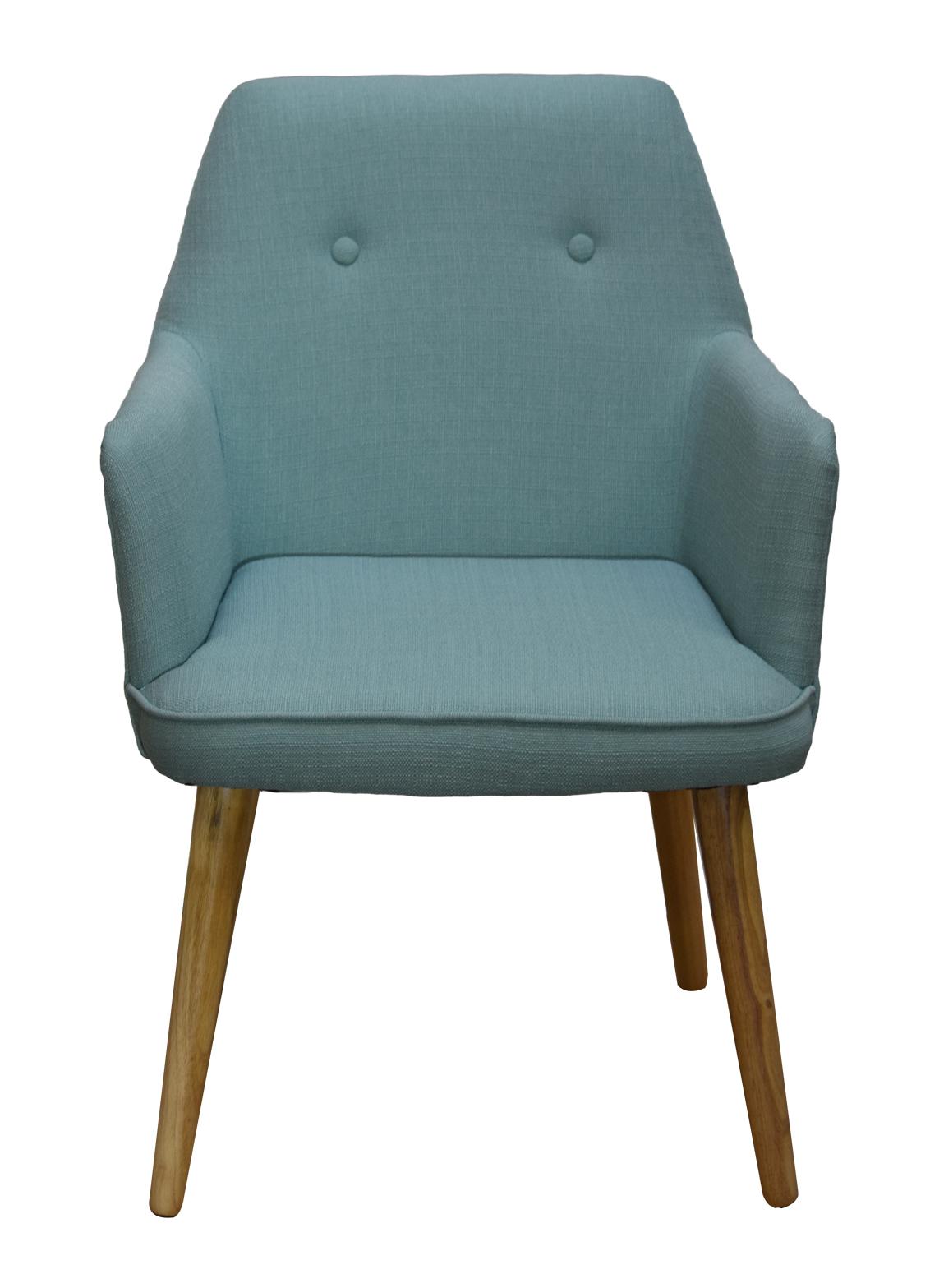fauteuil de table scandinave bleu clair oslo