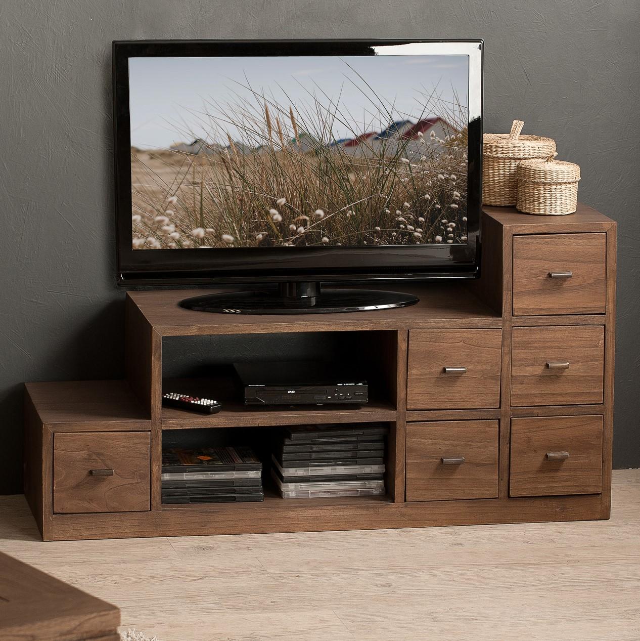 grand meuble tv bois exotique louna meubles tv pier import