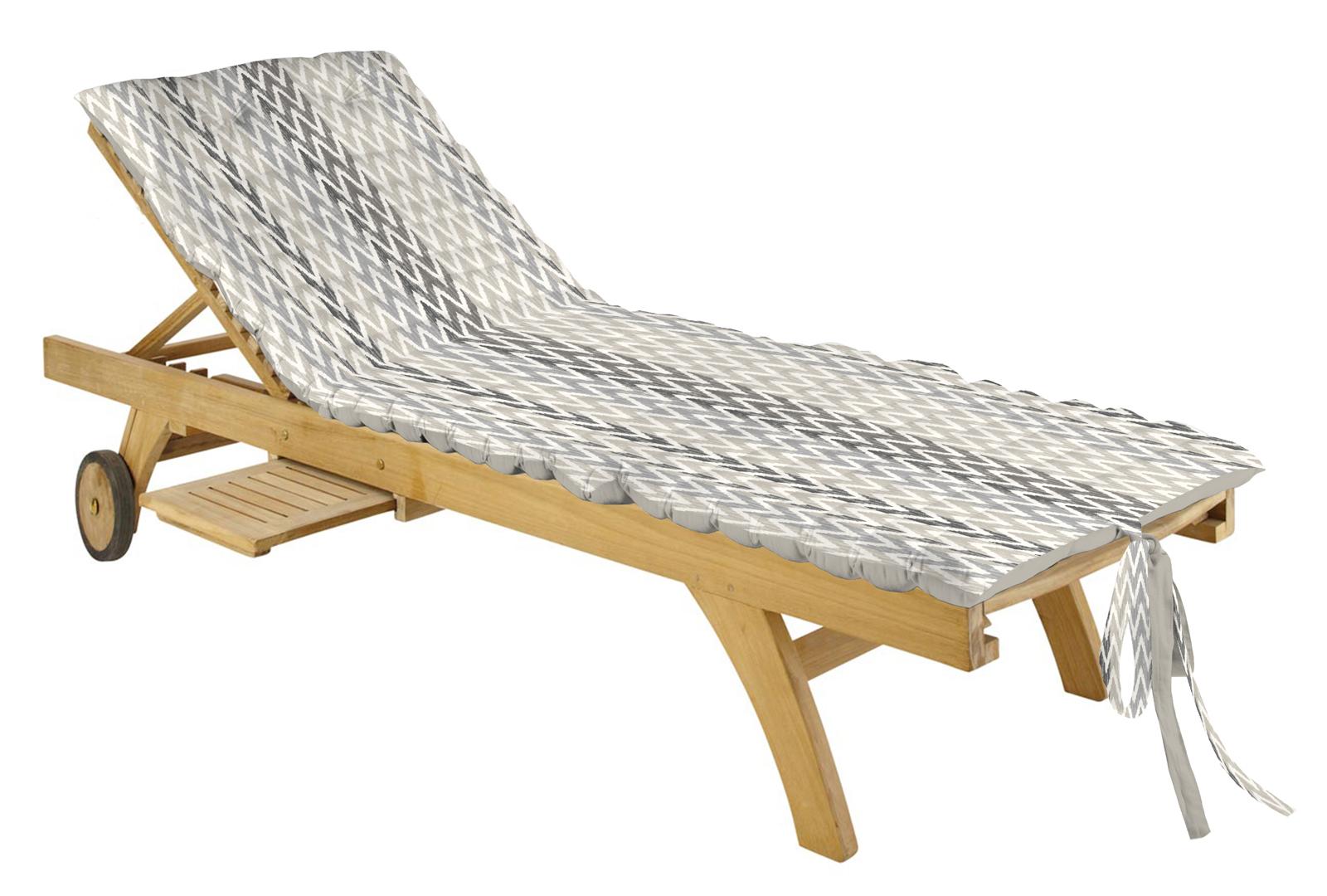 matelas bain de soleil gris en coton 60x170cm ikati