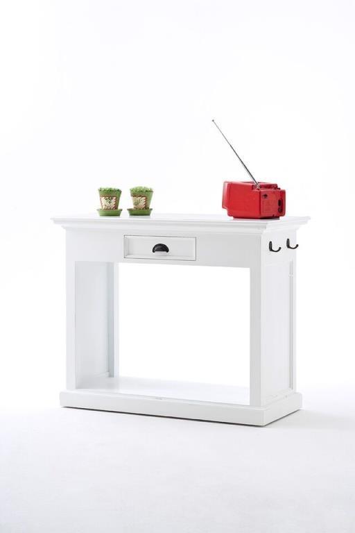 meuble bar de cuisine blanc 1 tiroir 105x85cm et 2 tabourets avec coussins acajou royan le lot