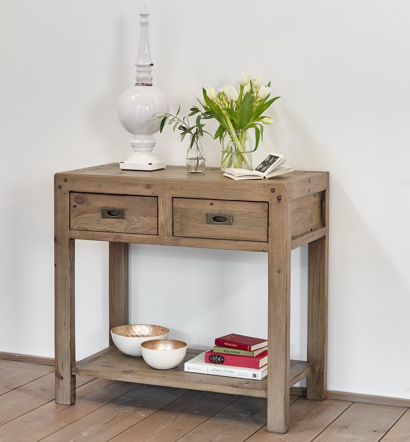 meuble console bois recycle vancouver