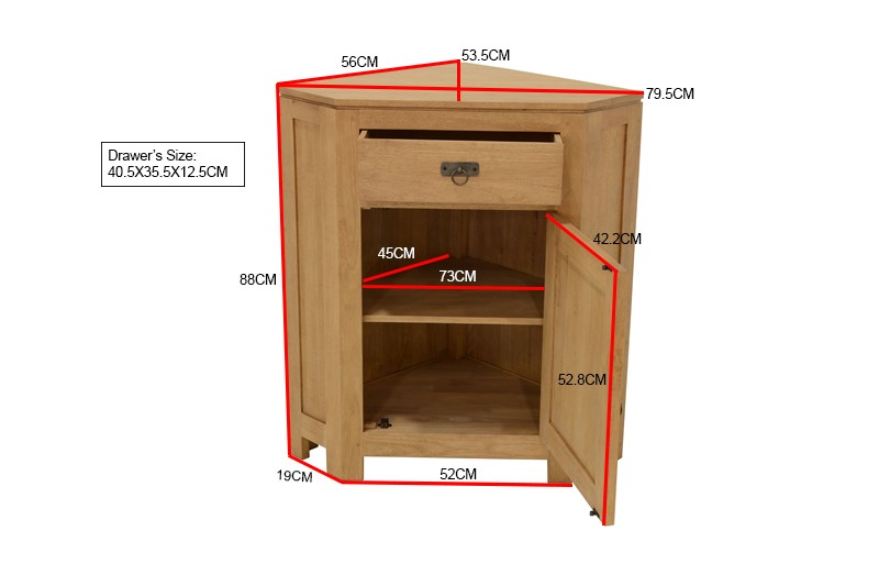 meuble d angle hevea 88cm helena