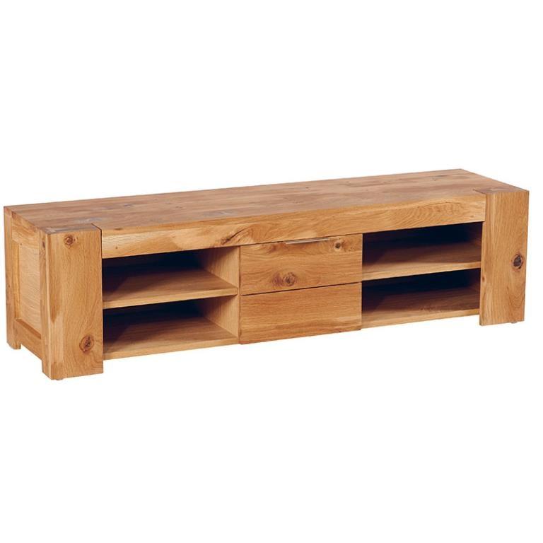 meuble tv chene huile 1 porte 149x40x40cm romeo