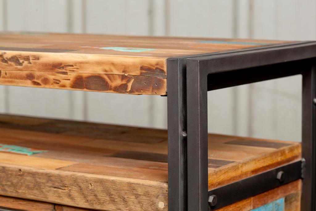 meuble tv industriel 4 tiroirs caravelle meubles tv pier import