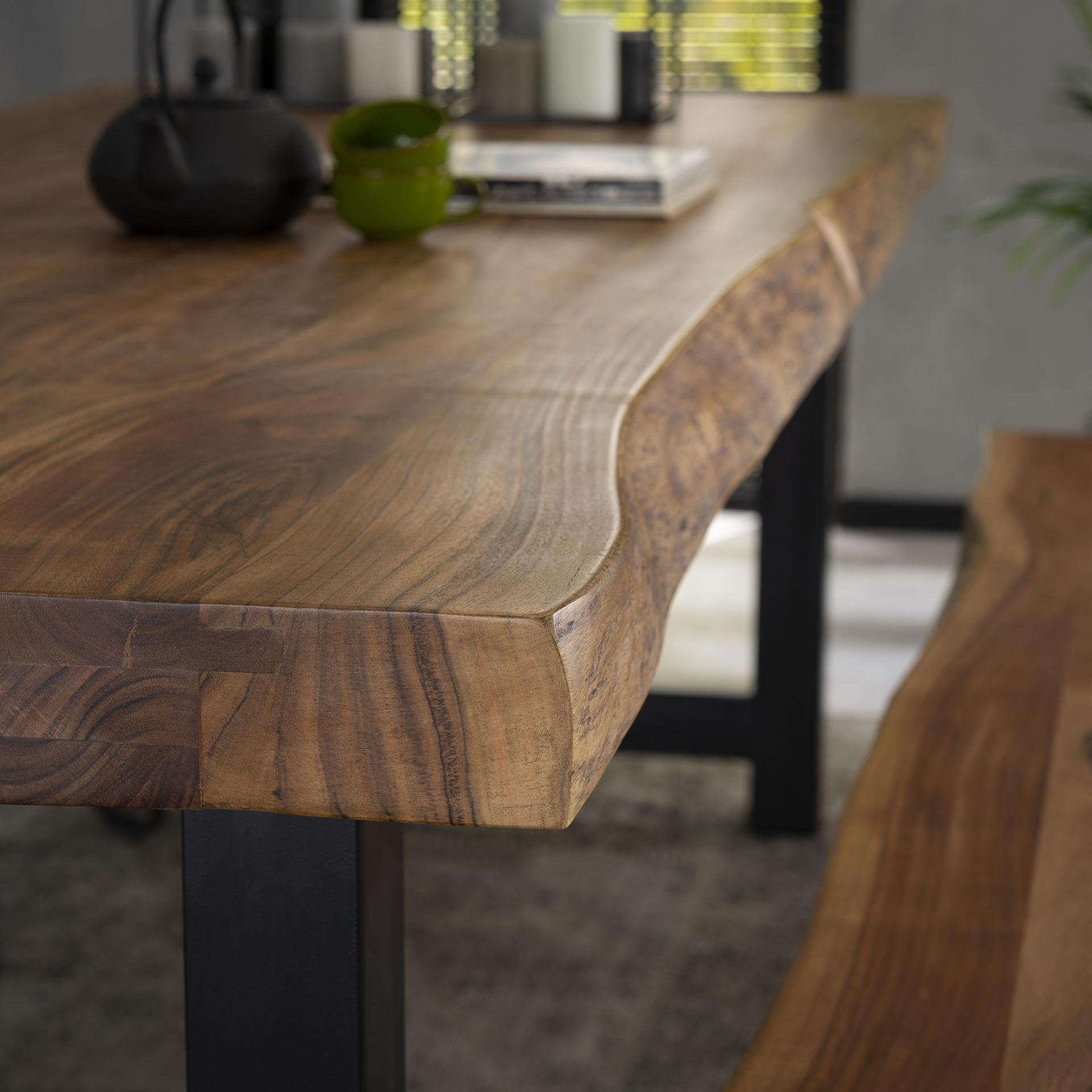 table a manger bois massif metal 200 cm melbourne