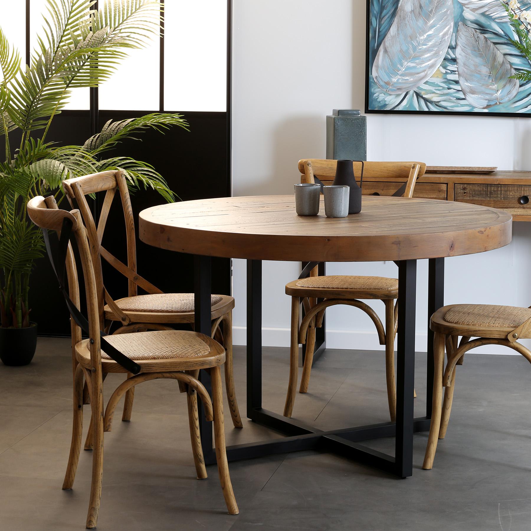 table a manger ronde bois recycle d120 brisbane