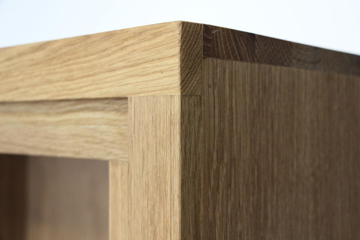 table basse bois bicolore naturel laque blanc en chene massif 1 niche 1 tiroir 110x65x32cm malmoe