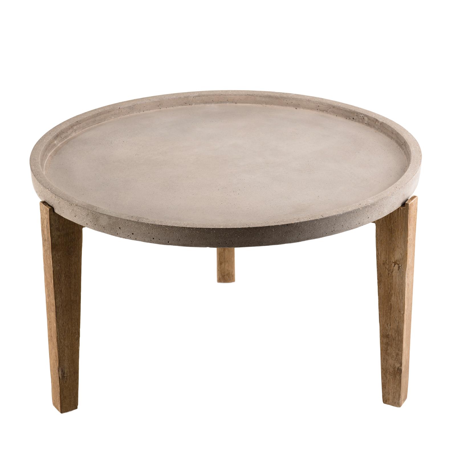 table basse jardin acacia beton forme ronde gm summer