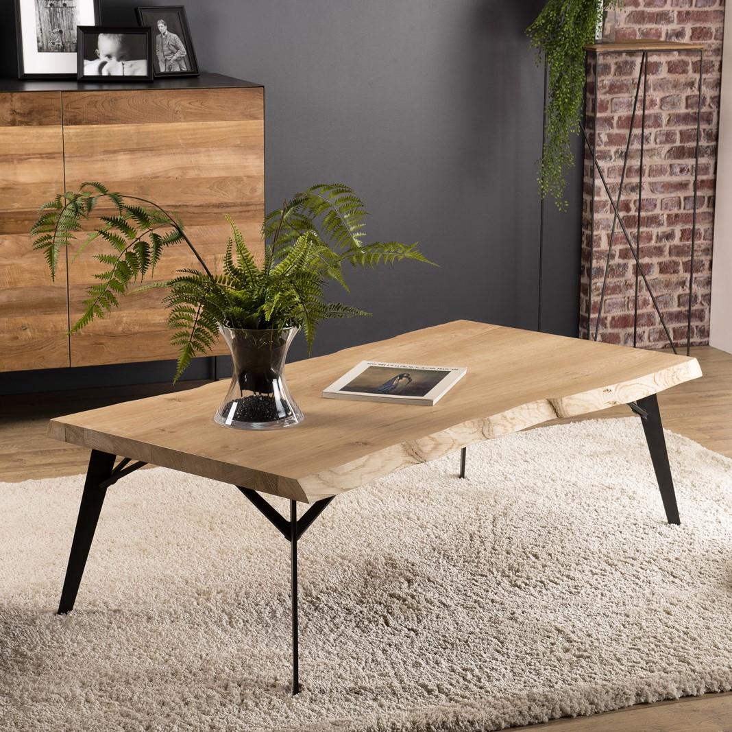 table basse rectangulaire bois de chene panama