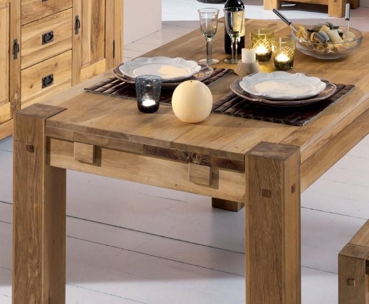table carree salle a manger bois massif 120 fjord